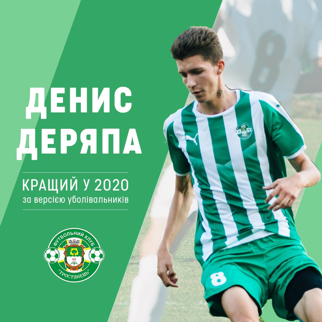 Денис Деряпа – кращий гравець у 2020 році за версією уболівальників
