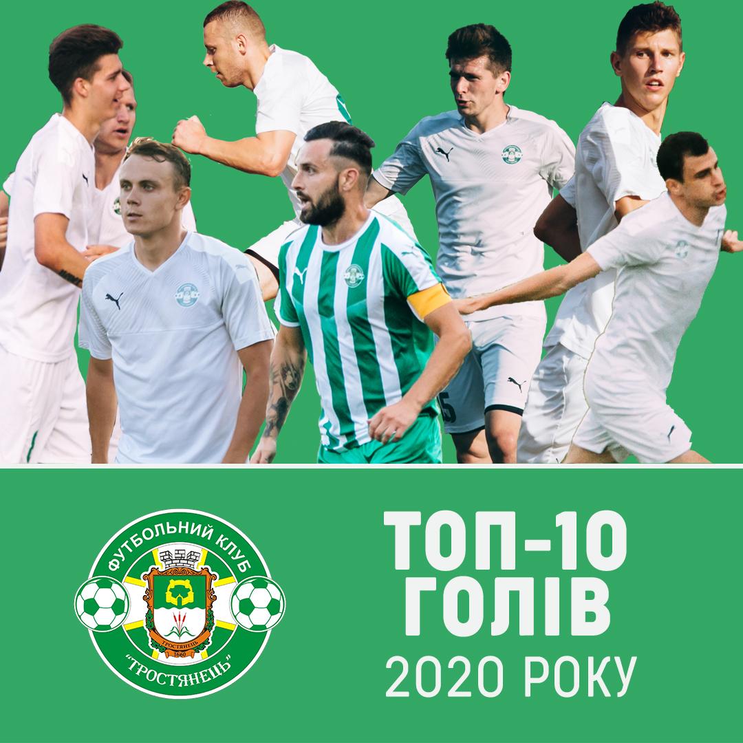 """ТОП-10 голів ФК """"Тростянець"""" у 2020 році"""