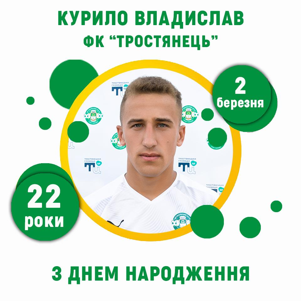Владиславу Курило – 22