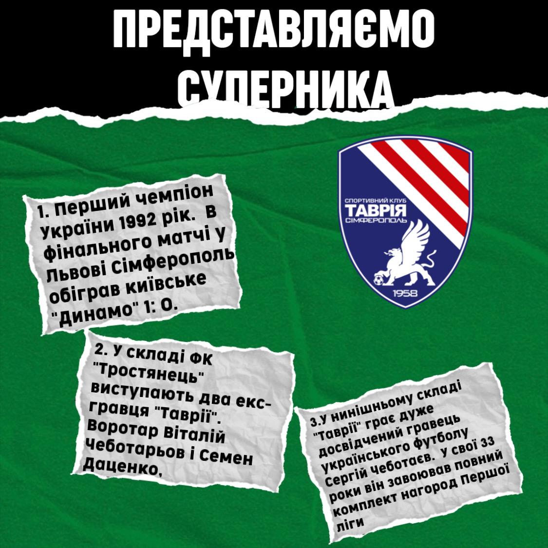 """Представляємо суперника ФК """"Таврія"""""""